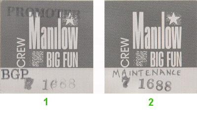 Barry ManilowBackstage Pass