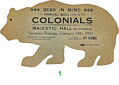 Bear in Mind Pre 1960s Ticket