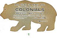 Bear in Mind Vintage Ticket