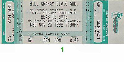 Beastie Boys1990s Ticket