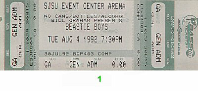 Beastie Boys1990s Ticket