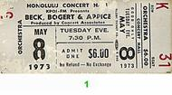 Beck Bogert &amp; Appice 1970s Ticket