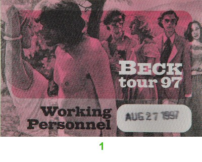 Beck Backstage Pass