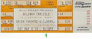 Belinda Carlisle 1980s Ticket