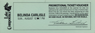 Belinda Carlisle 1990s Ticket