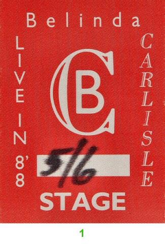 Belinda Carlisle Backstage Pass