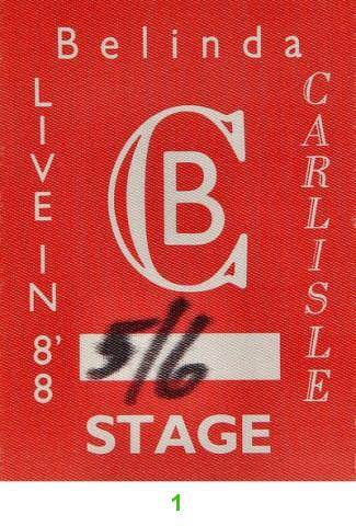 Belinda Carlisle Backstage Pass