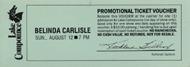 Belinda Carlisle Vintage Ticket