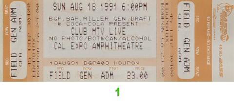 Bell Biv DeVoe Vintage Ticket