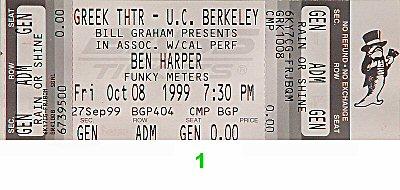 Ben Harper1990s Ticket
