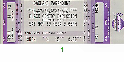 Bernie Mac 1990s Ticket