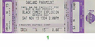 Bernie Mac1990s Ticket