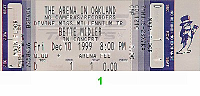 Bette Midler 1990s Ticket