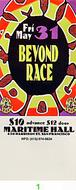 Beyond Race Vintage Ticket