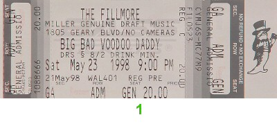 Big Bad Voodoo Daddy 1990s Ticket