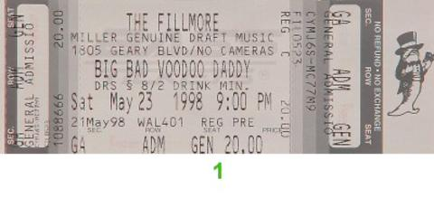 Big Bad Voodoo Daddy Vintage Ticket