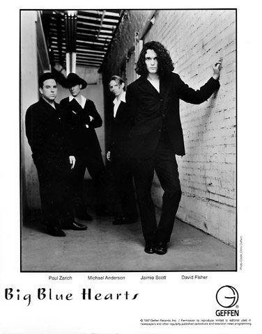 Big Blue Hearts Promo Print