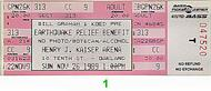 Cold Blood 1980s Ticket