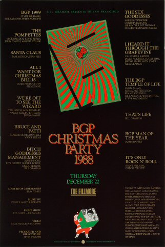 Bill Graham Presents Christmas Party Poster