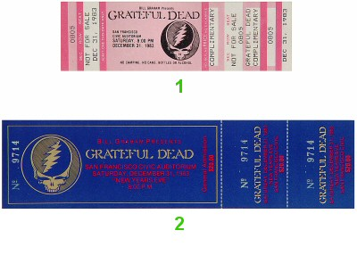Bill Graham 1980s Ticket