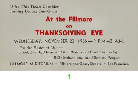 Bill Graham Vintage Ticket