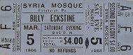 Billy Eckstine Vintage Ticket