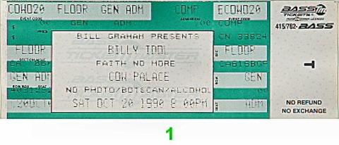 Billy Idol Vintage Ticket
