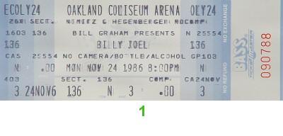 Billy Joel1980s Ticket