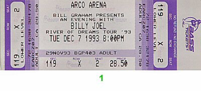 Billy Joel 1990s Ticket