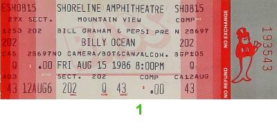 Billy Ocean1980s Ticket