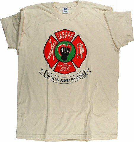 Black Fire Fighters Convention Men's Retro T-Shirt