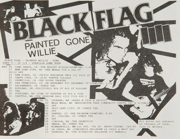 Black Flag Handbill