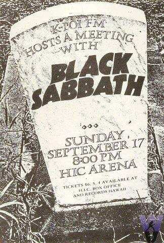 Black Sabbath Poster