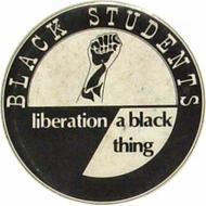 Black Students Liberation - A Black Thing Vintage Pin