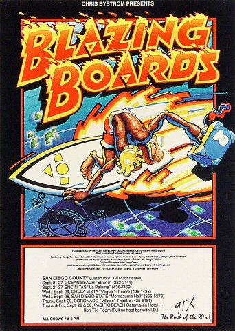 Blazing Boards Handbill