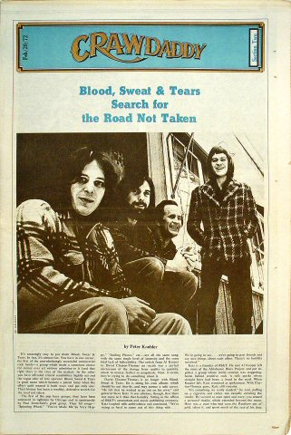 Blood, Sweat and Tears Crawdaddy Magazine