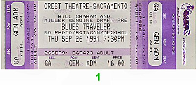 Blues Traveler 1990s Ticket