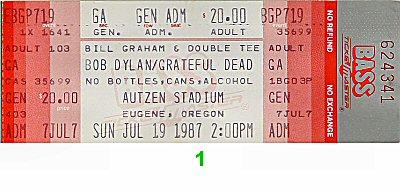 Bob Dylan1980s Ticket