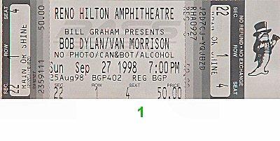 Bob Dylan1990s Ticket