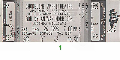 Bob Dylan1990s Ticket