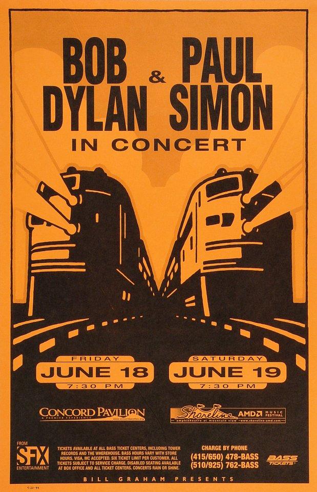 Bob Dylan Poster Concord Pavilion (Concord, CA) Jun 18, 1999