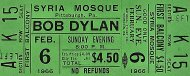 Bob Dylan Vintage Ticket