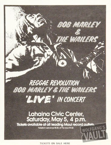 Bob Marley and the WailersHandbill