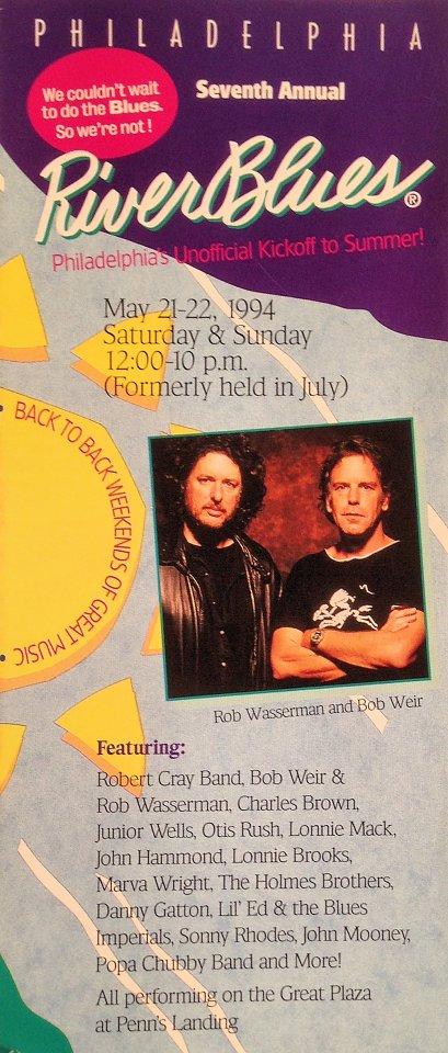 Bob Weir & Rob Wasserman Program