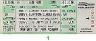 Bobby Slayton 1980s Ticket