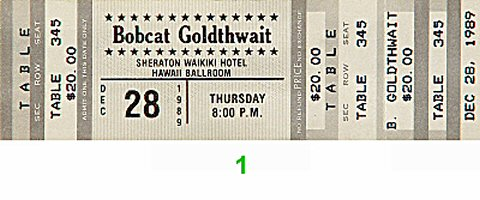 Bobcat Goldthwait 1980s Ticket