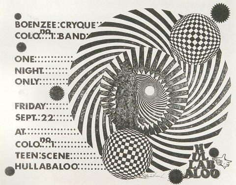Boenzee Cryque Handbill