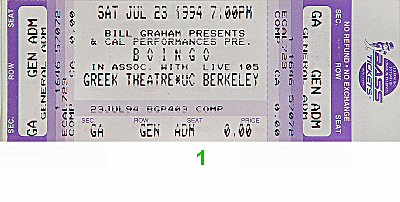 Boingo 1990s Ticket