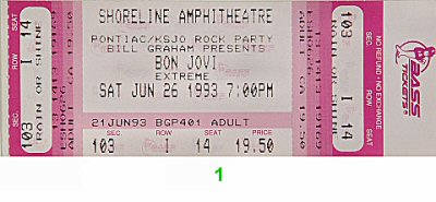 Bon Jovi1990s Ticket