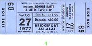 Bonnie Raitt 1970s Ticket